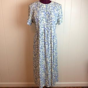 Vintage 80s/90s Floral Leaf Grunge Shift Dress